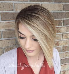 Asymmetrical Bob For Straight Hair
