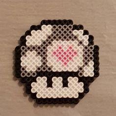 Companion Cube mushroom perler beads by peckapon