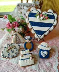 Wedding cookies, gingerbread cookies, hearts, ring, plaque, cake, wedding gown, jelly jars, bridal shower cookies, decorated cookies, gingerbread