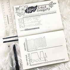 """Polubienia: 995, komentarze: 16 – B E C K Y (@bujowithbecky) na Instagramie: """"My May Habit Trackers mid month. . . """""""