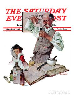 """Pharmacist"" Saturday Evening Post Cover, MArch 18, 1939"