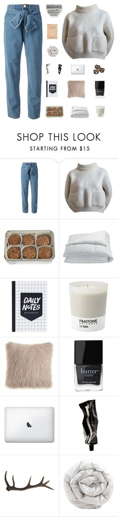 """""""cry it better"""" by lucidmoon ❤ liked on Polyvore featuring DKNY, Alaïa, FREDS at Barneys New York, Frette, Pantone, Butter London, Aesop, Antler, Brinkhaus and Superior"""
