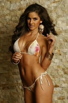 Beautiful Two Piece String Bikini.