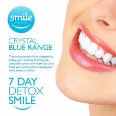 Crystal Blue Range! 7 Day Smile Detox only £25!!!  Get yours: adelefayeck@gmail.com