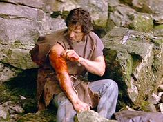 First Blood: The large piece of rotten canvas that Rambo finds in the woods and cuts into a makeshift coat, was in fact not a movie prop, but a real piece of rotten canvas found by the film crew during the movie's production. Since there was only one piece, Sylvester Stallone joked about how the canvas became a treasured prop on the set. After filming ended, Stallone kept the rotten canvas and still has it in his possession to this very day.