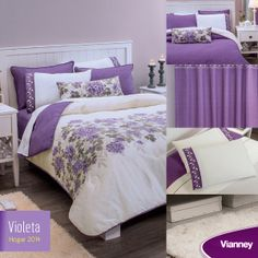 Edredón dos vistas Violeta