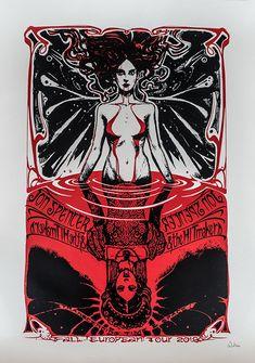VAMPIRA handpulled screenprint 2 colors plus glitter on cream paper - limited edition of 65 copies Stoner Rock, Stoner Art, Arte Horror, Horror Art, Jon Spencer Blues Explosion, Art Hippie, Psychedelic Drawings, Psy Art, Occult Art