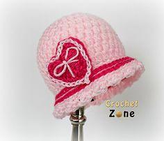 Sweetheart Cloche - Free Crochet Pattern.