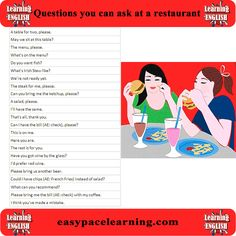 Talking in a restaurant.