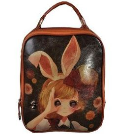 Bee 2013 New Fashion Multifunction Bunny Girl Painting School Laptop Backpack Pu Leather Ladies Tech Friendly Backpack/purse Case Cover for Ipad,ipad Mini,touch,ipad 2 3 4,samsung Galaxy Tab 2,note 8.0,kindle Fire Hd,coby,asus Memo Pad,asus Vivotab,notebook,laptop,and Plenty of Room for Books and Accesseries,everything Woman Backpack,shoulders Back Handbag Good Birthday Xmas Hallowmas Gift to Your Friend or Lover