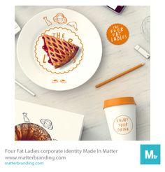 """Four Fat Ladies"" is ""Made in Matter"" #design #brandidentity #packaging #illustration #branding #persona #matterbranding #matter #mtr"