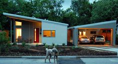 This eco live work space is an example of how eco-conscious commitment and creativity come together in perfect harmony. This interesting home in Fayetteville, Arkansas designed by Skiles Architect was. Shed Roof, House Roof, Butterfly Roof, Shed Plans, House Plans, Garage Plans, Car Garage, Mid Century Design, Modern House Design