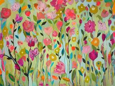 Garden View 36x48 by Carrie Schmitt at www.carrieschmittdesign.com
