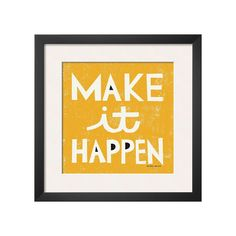 Art.com ''Make It Happen'' Framed Wall Art, Yellow