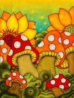New DIY Diamond Painting Crystal Cartoon mushroom Mosaic Cross Stitch round Drill Full Home Decor Diamond Embroidery Hippie Painting, Diy Painting, Trippy Drawings, Art Drawings, Cute Canvas, Canvas Art, Cartoon Mushroom, Mushroom Paint, Graffiti Lettering