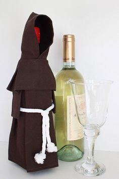 unique wine bottle    Wine Monk - Wine Bottle Cover, Costume, and Unique Gift   Curioso