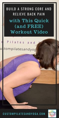 Build a Strong Core and Relieve Back Pain with This Quick (and Free) Workout Video - Custom Pilates If you've got back pain, you've probably heard you should build a strong core. That might seem easier said than done, but this free workout video can help. Pilates Workout Videos, Cardio Pilates, Pop Pilates, Pilates Video, Yoga Videos, Workout Routines, Pilates For Beginners, Beginner Pilates, Beginner Workouts