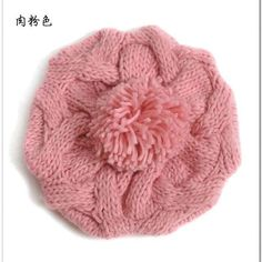 New 2017 Korean Women Winter Hats Girls' Warm Wool Twist Knitted Hat Fashion Beanies For Woman Flowers Cap Accessories Hot Sale
