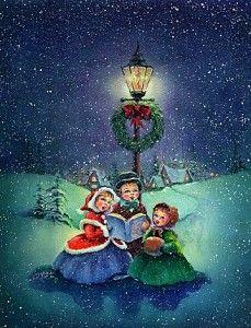 Old Christmas Post Cards — Christmas Carols Christmas Post, Christmas Scenes, Christmas Carol, Christmas Greetings, Christmas Decor, Christmas Artwork, Retro Christmas, Country Christmas, Christmas Christmas
