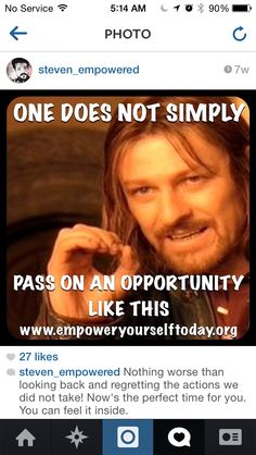 Don't pass on Opportunity