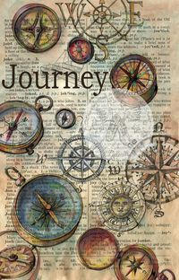 PRINT: Journey drawing on Distressed Parchment. $10.00, via Etsy.