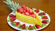 How to CUT, SLICES and DECORATE FRUIT By J. Pereira Art Carving Fruit an...