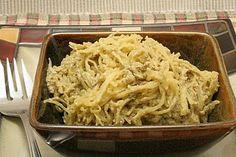 Spaghetti Squash with Basil-Walnut Cream Sauce