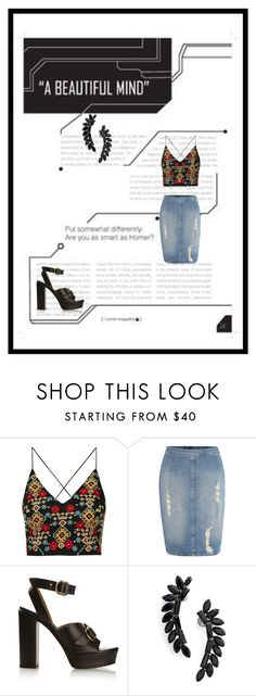 """""""Untitled #556"""" by haya-kamel1 ❤ liked on Polyvore featuring Topshop, Calvin Klein, Chloé and Cristabelle"""