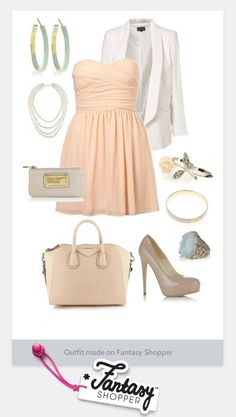 Outfit created on Fantasy Shopper. Love, love, love. Can't wait for spring and summer