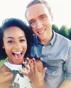 Excited newly engaged interracial couple #love #wmbw #bwwm #swirl Interracial Family, Interracial Marriage, Interracial Wedding, Black Woman White Man, Black Love, Interacial Couples, Interacial Families, Mixed Couples, Cute Couples