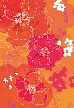 'Tangerine Floral' by Natalie Alexander