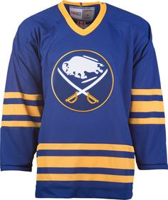 54aaf2baeeb Buffalo Sabres CCM Vintage 1990 Royal Replica NHL Hockey Jersey Nhl Hockey  Jerseys, Hockey Rules