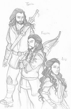 Thorin, Frerin, & Dis: The Royal Dwarf Siblings by Rivaldiart on DeviantArt