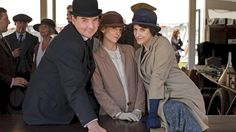 Bates, Anna, and Baxter behind the scenes!