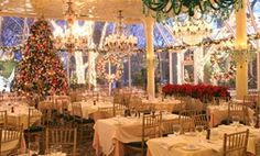 Tavern on the Green at christmas in NYC....was such a lovely place