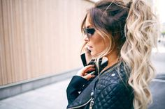 wavy + ponytail