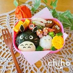 posted from @Jndchtn まんまるトトロ弁当♡ #obentoart #キャラ弁 #トトロ Bento Box Lunch For Kids, Bento Kids, Bento And Co, Cute Bento Boxes, Bento Lunchbox, Desserts Japonais, Onigiri Recipe, Kawaii Cooking, Kawaii Bento