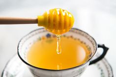 Honey and Lemon Tea Recipe        Prep time: 5 minutes    If you want, add a sliver or two of fresh ginger to the cup of honey and lemon tea. Note that honey should not be fed to young children under 18 months old.  Add to shopping list  Ingredients        1 Tbsp lemon juice      2 Tbsp honey      1/2 cup or more of hot water    Method    Put honey and lemon juice into a tea cup or mug. Add hot water and stir. Add more lemon juice, honey, or hot water to taste.    Yield: Serves 1.