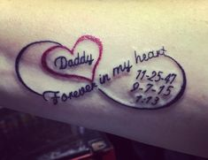 My beautiful tattoo in memory of my daddy!! Love & miss every minute of the day!