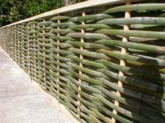 Cool bamboo fence.