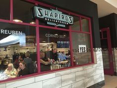 Shapiro's deli at Fashion Mall served huge corned beef sandwiches, amazing cheesecake and healthy stuff, too.