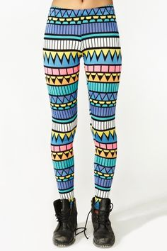 Nastygal_Neon Aztec Leggings