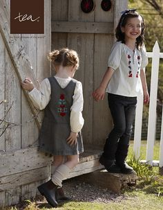 Embroidered Fall Girl's Fashion by Tea Collection, via Flickr