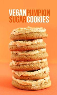 Vegan Pumpkin Sugar Cookies | Minimalist Baker Recipes