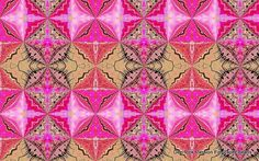 "Printable Paper Bead Sheet Wild Pink  Set A 8.5""x11"" paper"