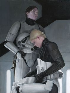 Female Stormtroopers suiting up  //  **now this is an interesting SW image, socio-politically speaking...