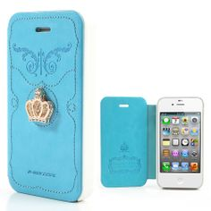 Diamond #Crown for #iPhone4 4S Leather Cover