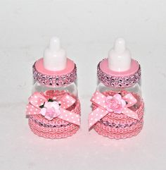 Pink Baby Bottle Favors Little Princes Baby by FavorsBoutique,