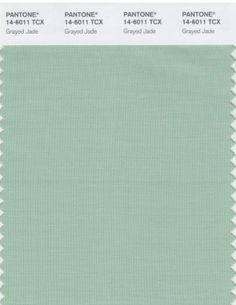 Colors of Spring 2013 Grayed Jade #spadelic #pantone