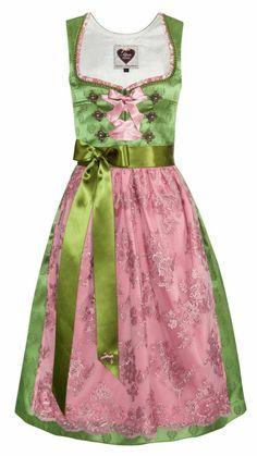 Dirndl grün/rosa